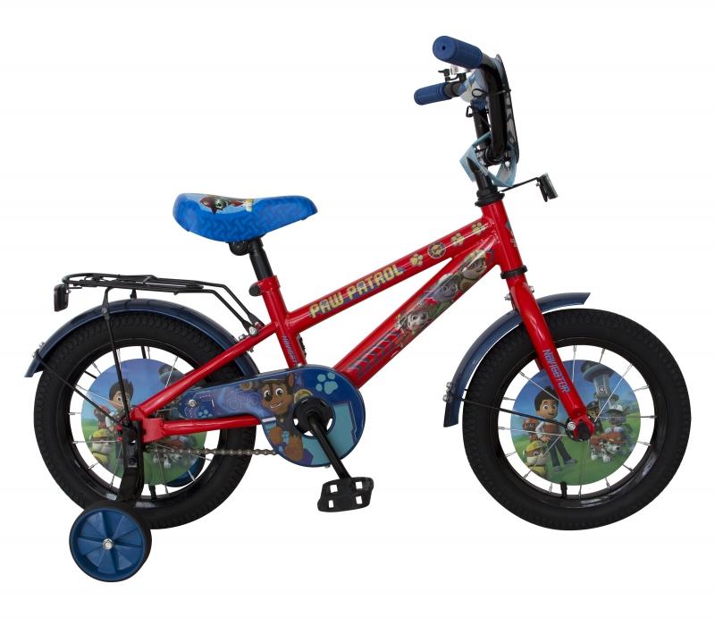Купить Детский велосипед - Щенячий патруль, колеса 14 , стальная рама и обода, ножной тормоз, Navigator