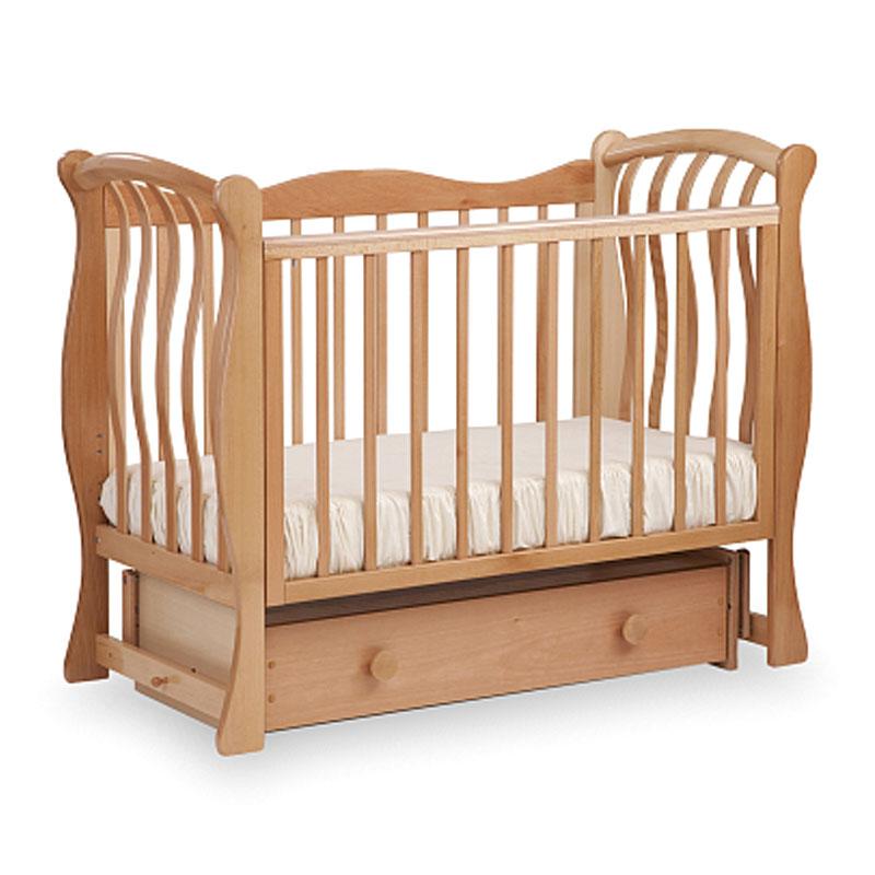 Кровать детская Лель БИ 07.2 Ландыш маятник поперечный, натуральный бук