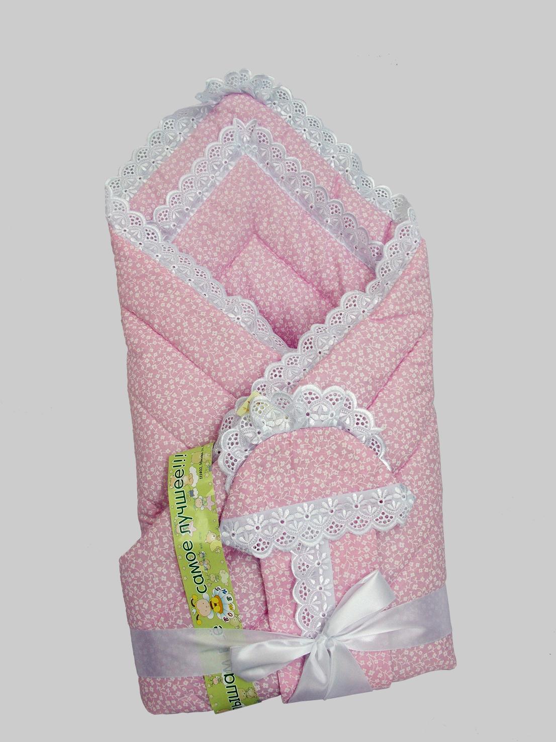 Одеяло на выписку - Фунтик, 4 предмета, розовоеКомплекты на выписку<br>Одеяло на выписку - Фунтик, 4 предмета, розовое<br>