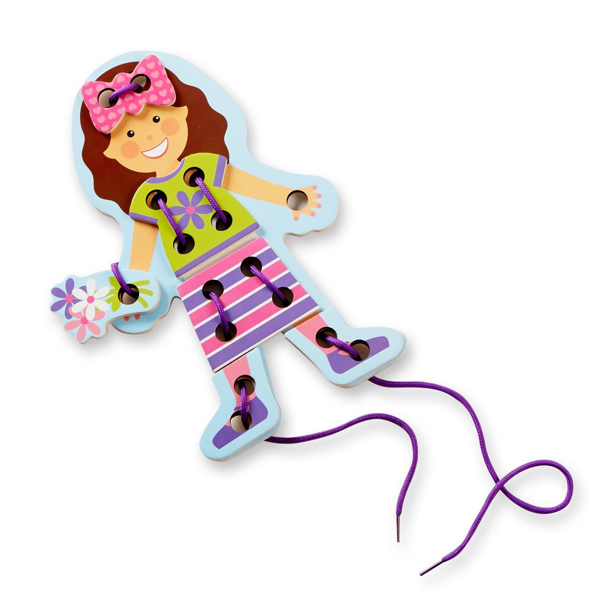 Кукла - Моя первая шнуровка из серии Первые навыки, Melissa&Doug  - купить со скидкой
