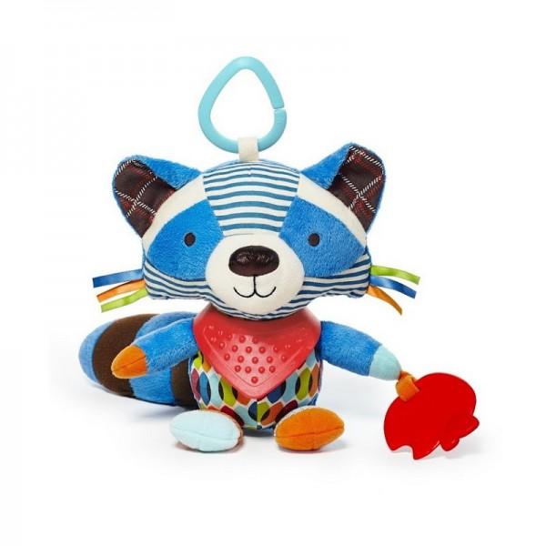 Развивающая игрушка-подвеска Енот с прорезывателемДетские погремушки и подвесные игрушки на кроватку<br>Развивающая игрушка-подвеска Енот с прорезывателем<br>