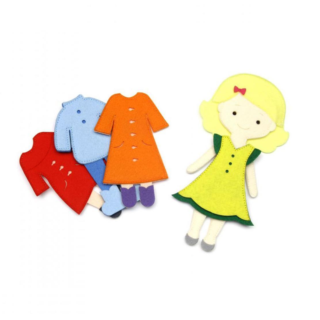 Игровой набор - Одень куклу, 4 сезона фото