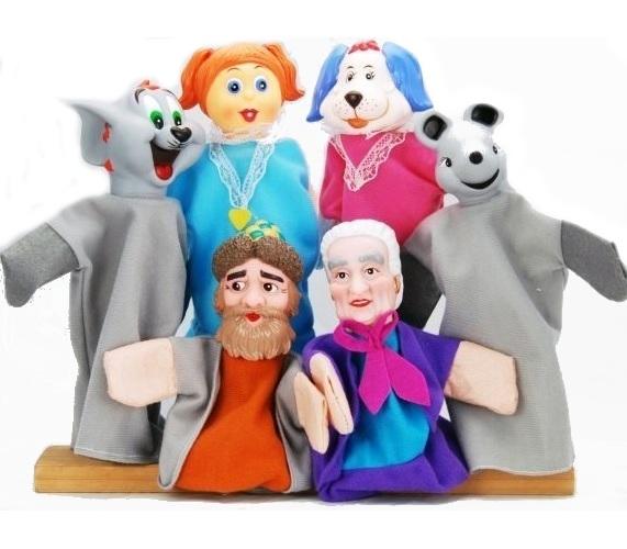 Кукольный театр - Репка, 6 куколДетский кукольный театр <br>Кукольный театр - Репка, 6 кукол<br>