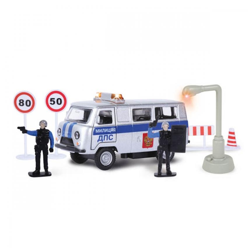 Машина металлическая инерционная -  Уаз - Милиция/полиция - Дежурная часть, со световыми и звуковыми эффектами sim)Полицейские машины<br>Машина металлическая инерционная -  Уаз - Милиция/полиция - Дежурная часть, со световыми и звуковыми эффектами sim)<br>