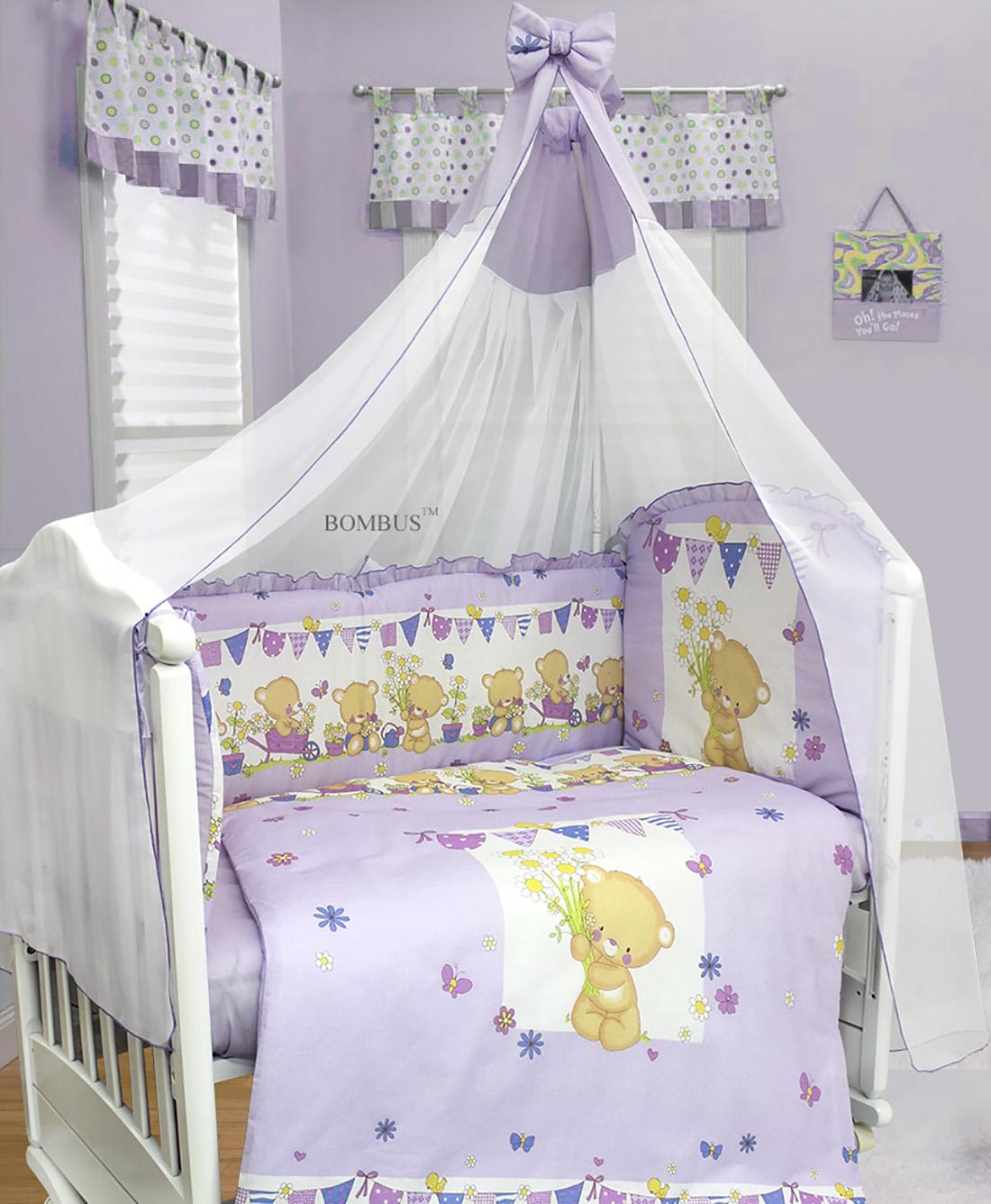 Комплект в кроватку - МишаняДетское постельное белье<br>Комплект в кроватку - Мишаня<br>