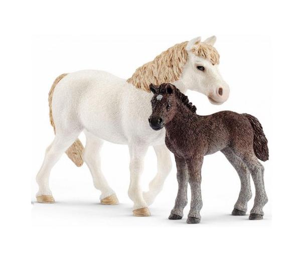 Купить Игровой набор – Кобыла пони и жеребенок Дартмурской породы, Schleich