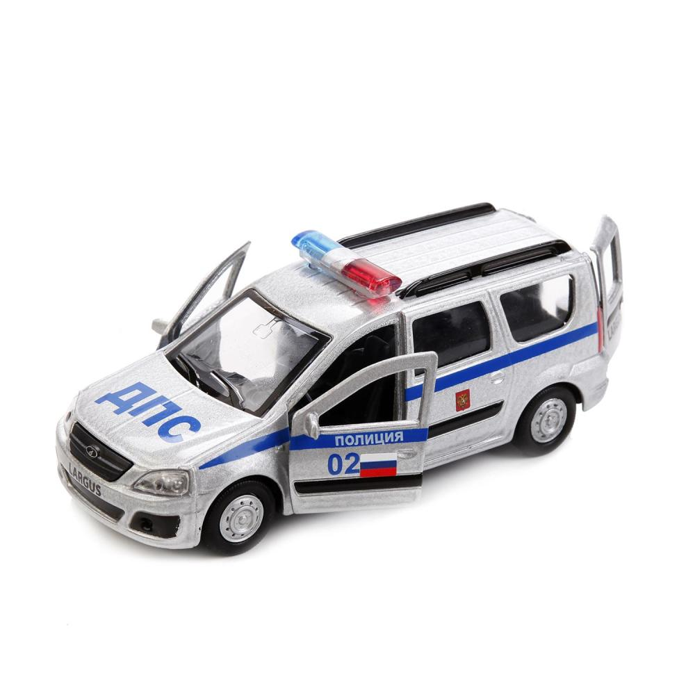 Купить Модель Lada Largus Полиция, 12 см, открываются двери, инерционная, Технопарк
