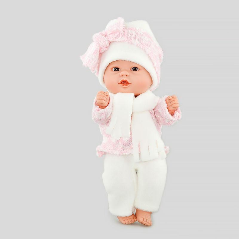 Купить Кукла Бебетин в бело-розовом костюмчике, 21 см., D'NENES DISEСO, S.L.