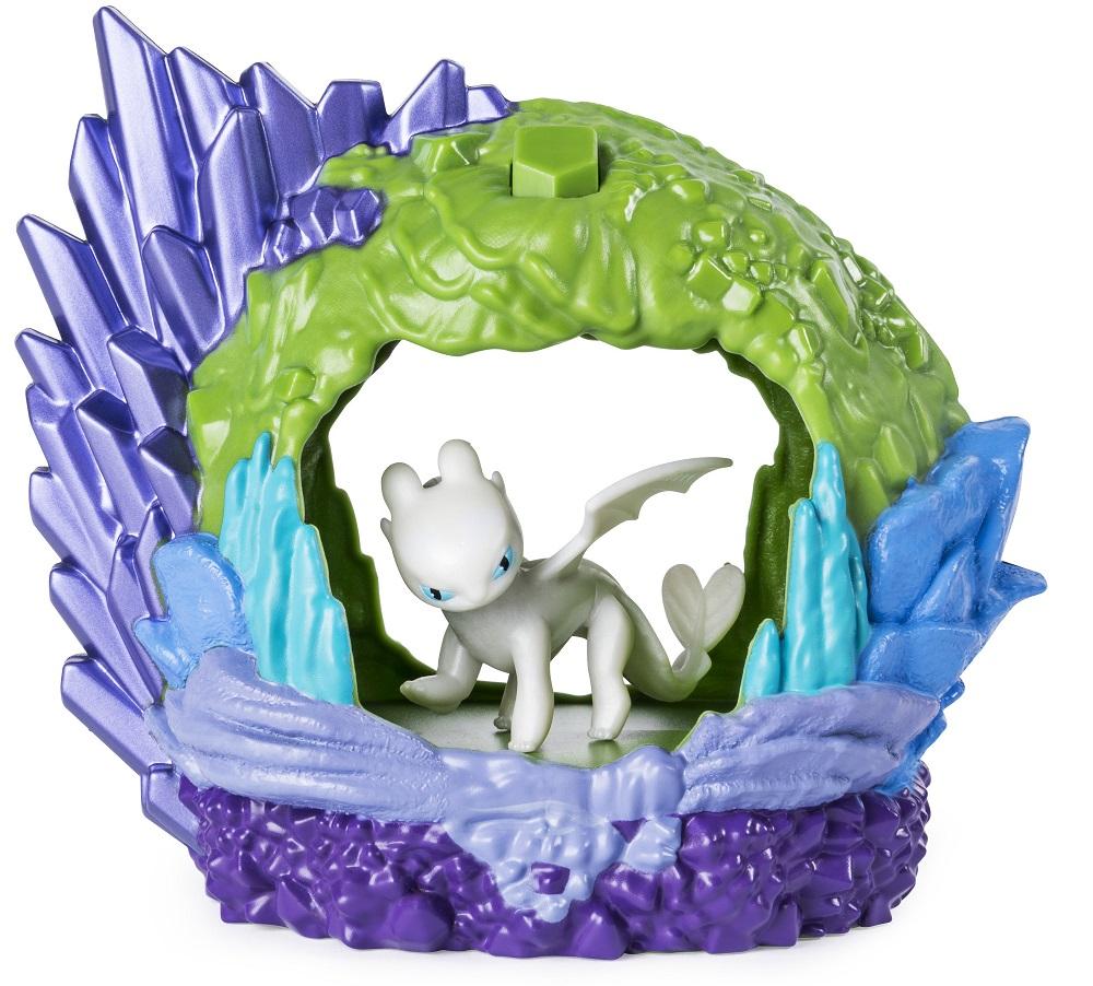 Игровой набор Как приручить дракона-3 - Дневная Фурия в пещере, свет, Spin Master  - купить со скидкой