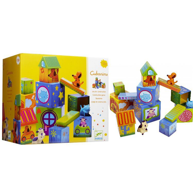 Набор - Кубанимо, 14 кубиков и 3 фигурки животныхКубики<br>Набор - Кубанимо, 14 кубиков и 3 фигурки животных<br>