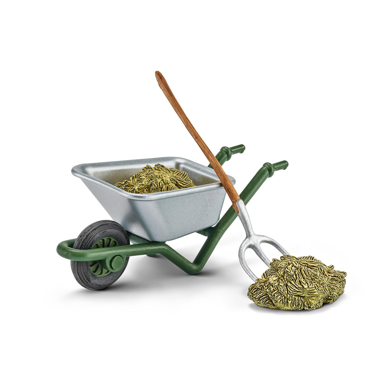 Купить Набор для кормления лошадей и чистки конюшни на ферме, Schleich