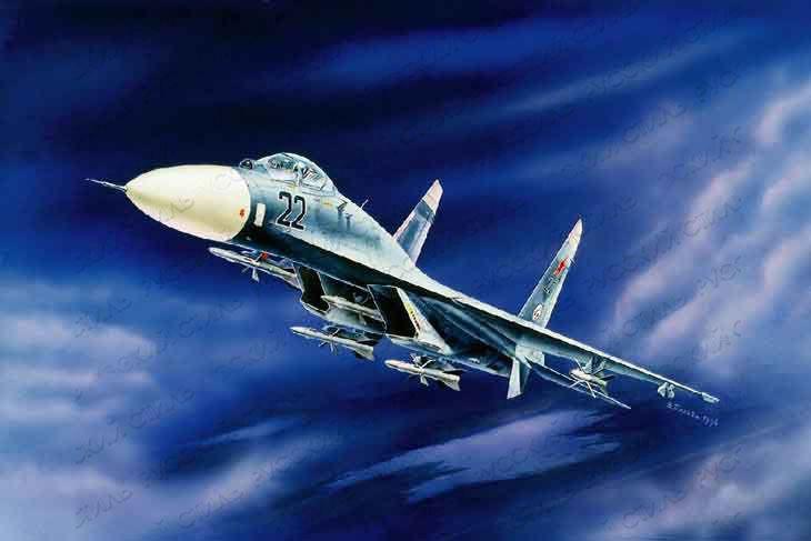 Модель для склеивания - Истребитель  бомбардировщик Су-27Модели самолетов для склеивания<br><br>