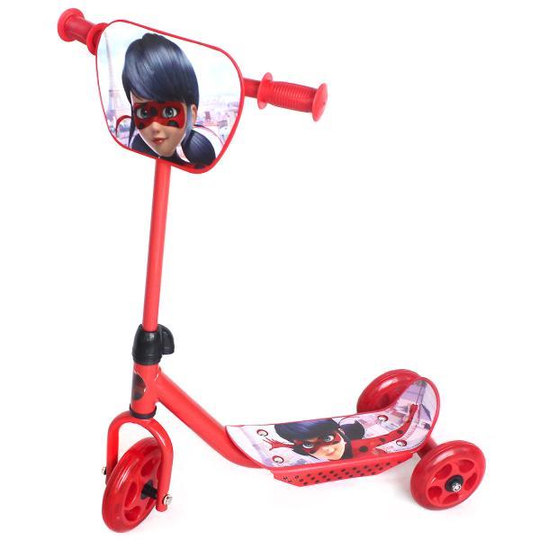 Трехколесный самокат – Леди Баг, колеса 14,5 и 12 см, красный