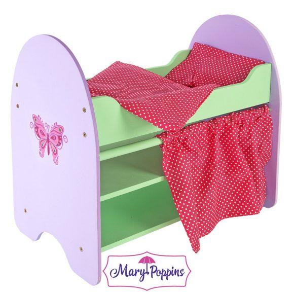 Кроватка с полками - БабочкаДетские кроватки для кукол<br>Кроватка с полками - Бабочка<br>