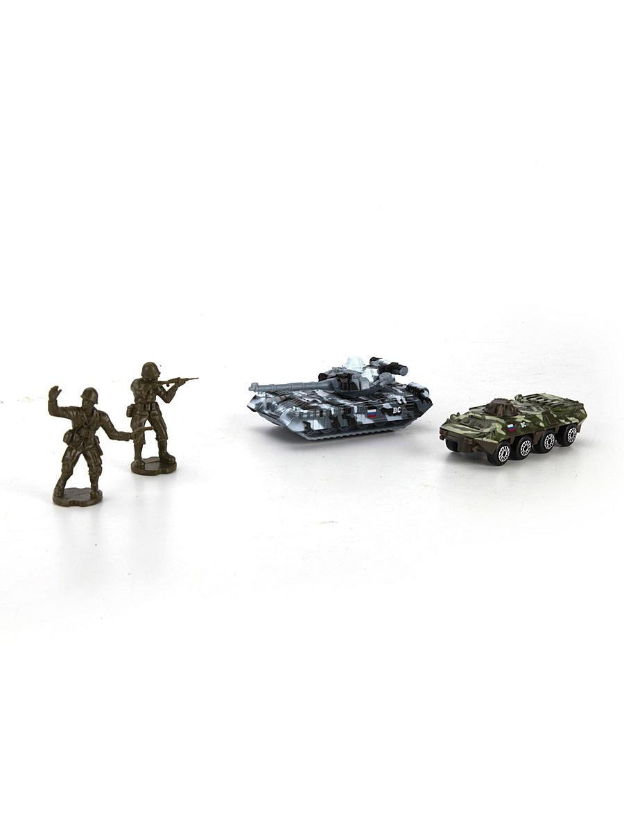 Набор из 2-х металлических моделей - Военная техника 7,5 см с 2-мя фигуркамиВоенная техника<br>Набор из 2-х металлических моделей - Военная техника 7,5 см с 2-мя фигурками<br>