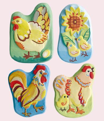 Ваятель. Набор для создания обьемных барельефов на магнитах «Домашние птички»