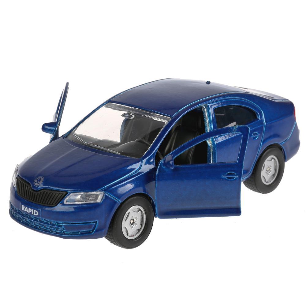 Купить Инерционная металлическая машина - Skoda Rapid, синяя 12 см, открываются двери и багажник -WB), Технопарк