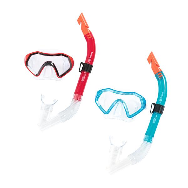 Купить Набор для ныряния - Сверкающее море, маска, трубка, 2 цвета, Bestway