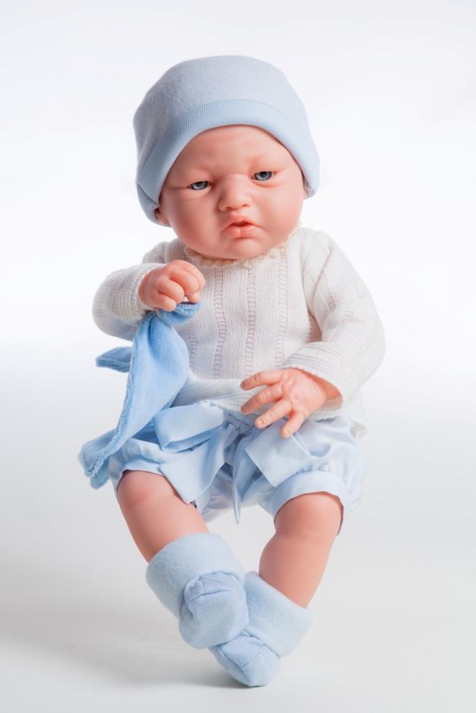 Кукла Бэби в голубом, 36 см.Испанские куклы Paola Reina (Паола Рейна)<br>Кукла Бэби в голубом, 36 см.<br>