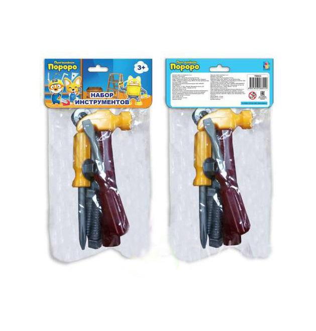 Набор инструментов из серии Пингвинёнок Пороро, 7 штук, пакет с хедером 1TOY