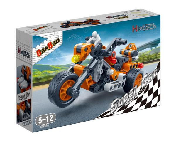 Конструктор - Мотоцикл, 118 деталейКонструкторы BANBAO<br>Конструктор - Мотоцикл, 118 деталей<br>