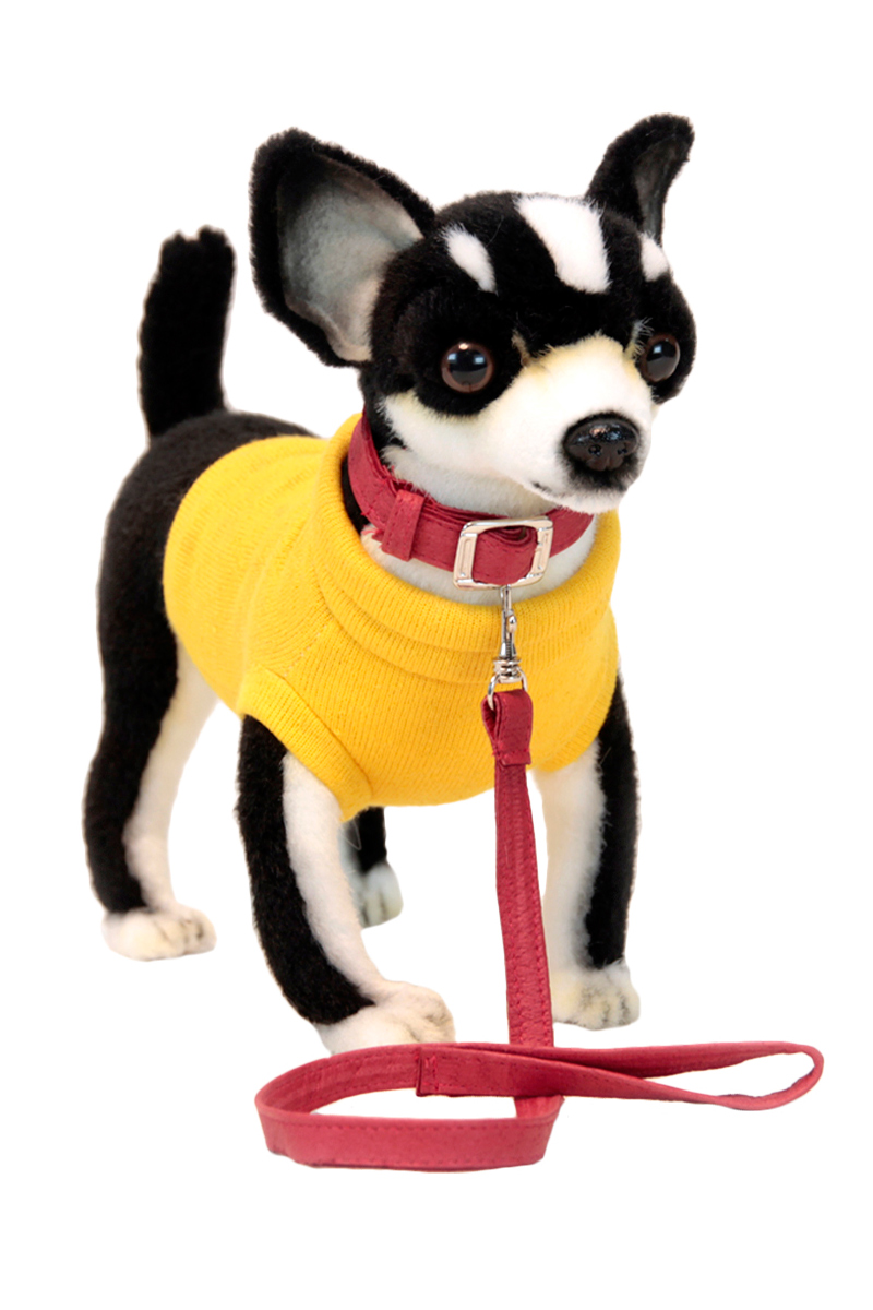 Мягкая игрушка – Чихуахуа черная, 27 см.Собаки<br>Мягкая игрушка – Чихуахуа черная, 27 см.<br>