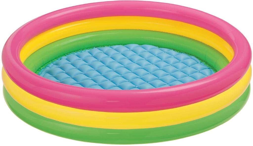 Intex Бассейн детский надувной круглый – Радуга, 3 кольца