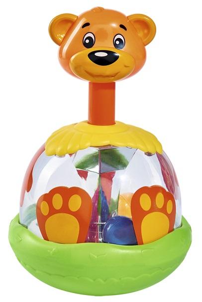 Игрушка-погремушка - Медведь с шарами в животе, 20 смДетские погремушки и подвесные игрушки на кроватку<br>Игрушка-погремушка - Медведь с шарами в животе, 20 см<br>