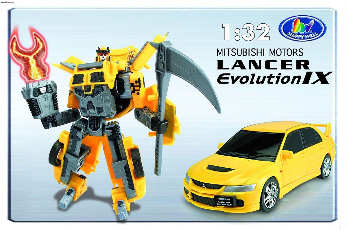 Трансформер «Mitsubishi Lancer Evo IX»Игрушки трансформеры<br>Робот-трансформер Mitsubishi Lancer Evolution IX  со световым эффектом, выполнен в масштабе 1:32.<br>