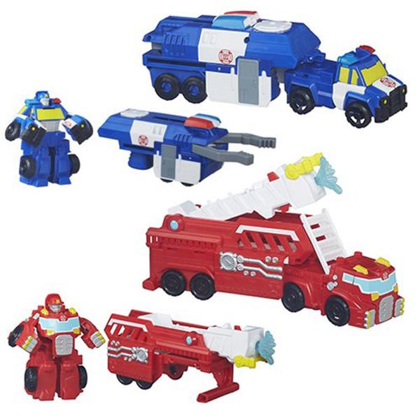 Робот-трансформер Playskool Heroes - Машинки-спасателиИгрушки трансформеры<br>Робот-трансформер Playskool Heroes - Машинки-спасатели<br>