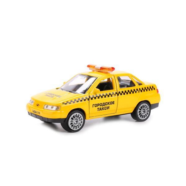 Купить Машина металлическая инерционная – Лада 110 Такси, 12 см., открываются двери, Технопарк