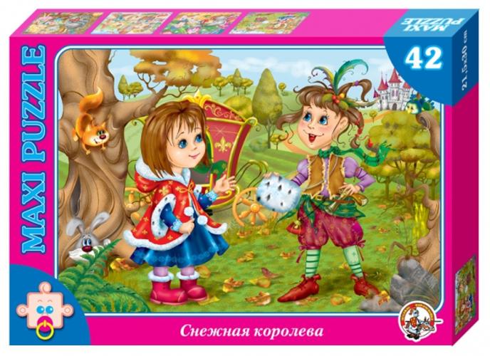 Купить Пазл макси – Снежная королева. Герда и маленькая разбойница. В гостях у сказки, 42 детали, Десятое королевство