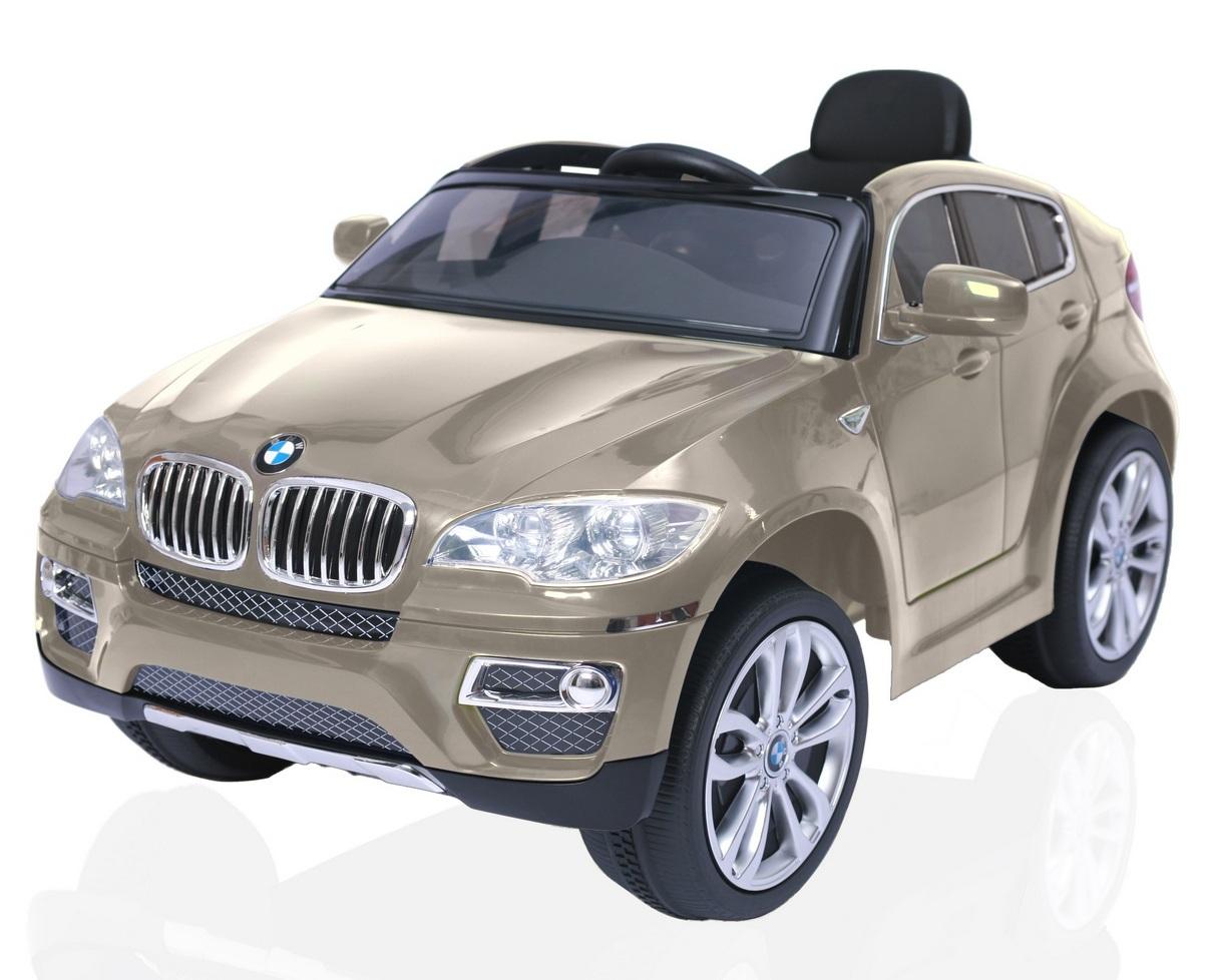 Электромобиль RT 258 BMW X6, champagneЭлектромобили, детские машины на аккумуляторе<br>Электромобиль RT 258 BMW X6, champagne<br>