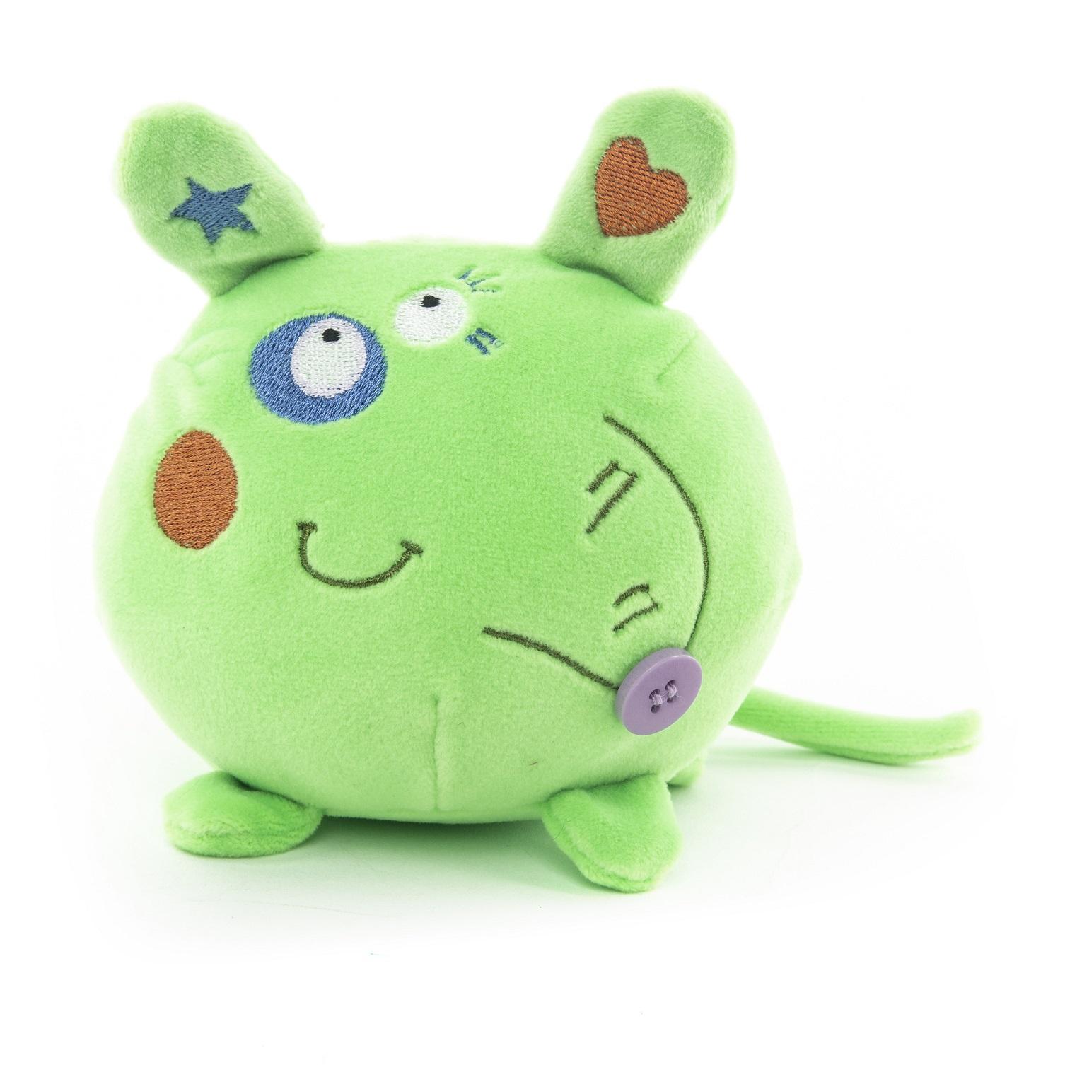 Мягкая игрушка - Мышка зеленая, 10 см фото