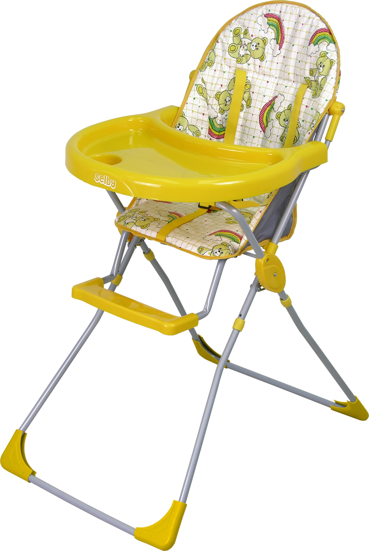 Стульчик для кормления Selby 152, желтыйСтульчики для кормления<br>Стульчик для кормления Selby 152, желтый<br>