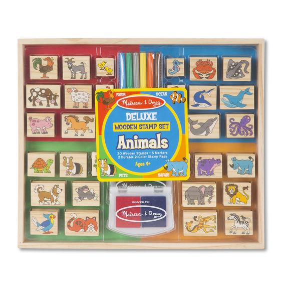 Купить Набор штампов Делюкс - Животные, Melissa&Doug