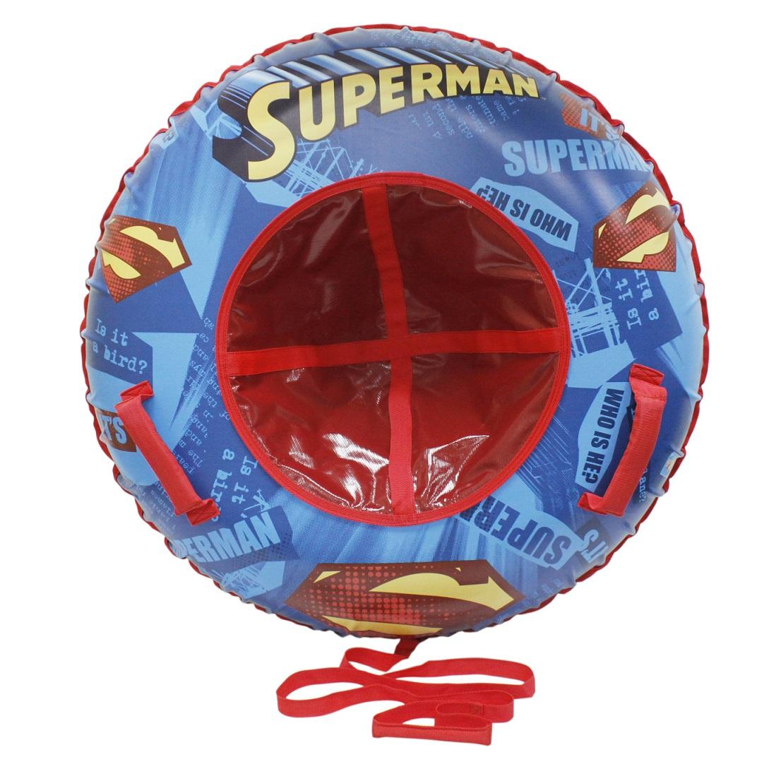 Купить Тюбинг - надувные сани из серии Супермен с резиновой автокамерой, 100 см., 1TOY