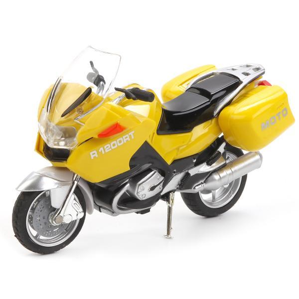 Металлическая модель - Мотоцикл - Туризм, 12,5 см, свет, звук, подвижные элементыМотоциклы<br>Металлическая модель - Мотоцикл - Туризм, 12,5 см, свет, звук, подвижные элементы<br>