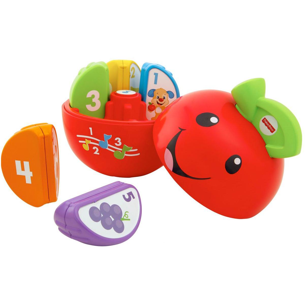 Обучающая игрушка – Яблочко из серии Смейся и учисьСортеры, пирамидки<br>Обучающая игрушка – Яблочко из серии Смейся и учись<br>
