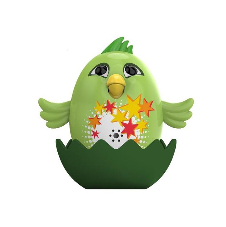 Silverlit Интерактивная игрушка - Цыпленок с кольцом Fluff, зеленый