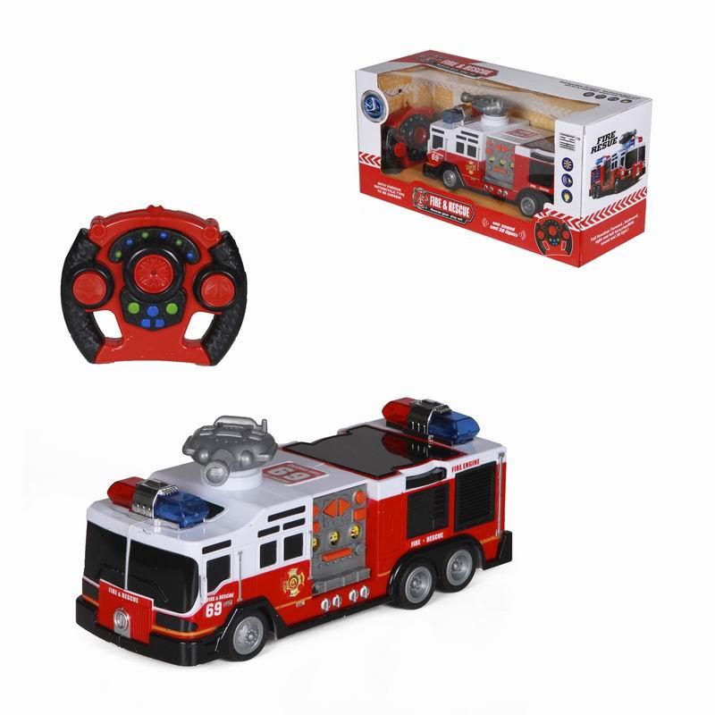 Пожарная машина на радиоуправлении с пультом - Пожарные машины, автобусы, вертолеты и др. техника, артикул: 166001