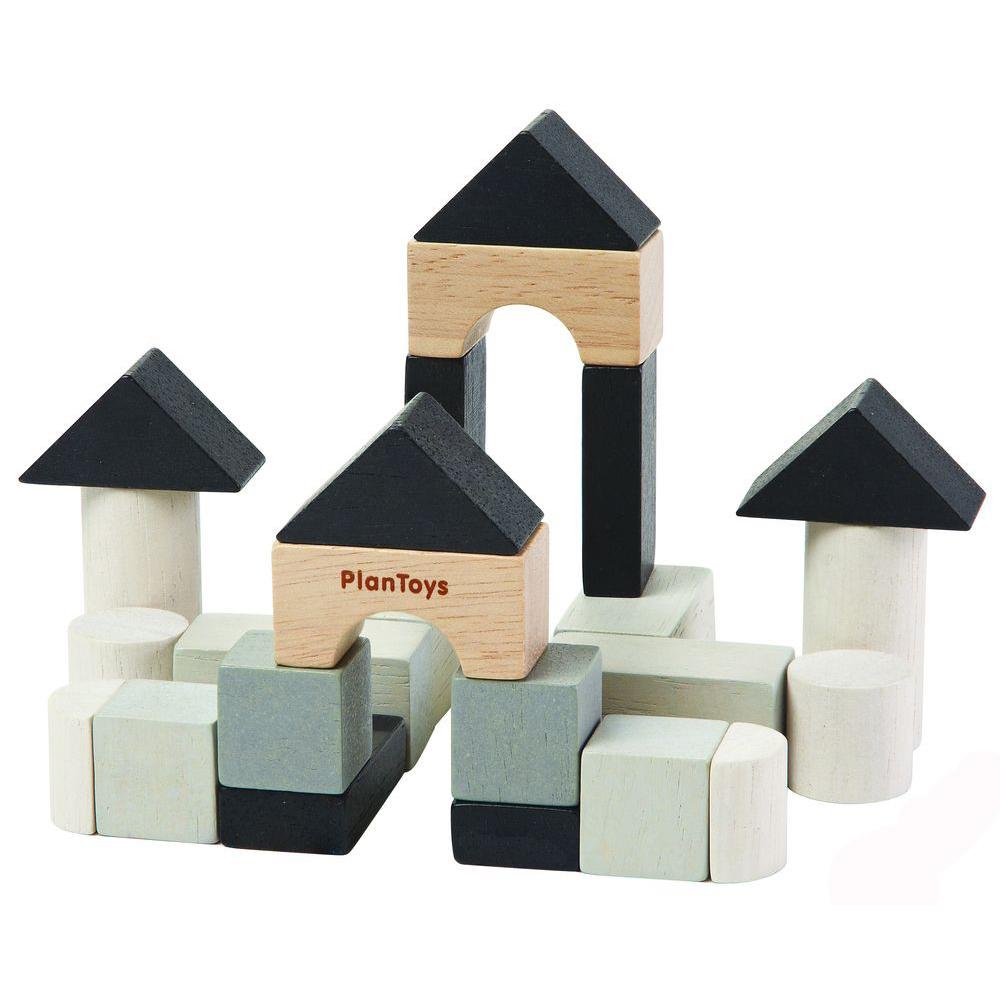 Купить Деревянный мини конструктор, 24 элемента, Plan Toys