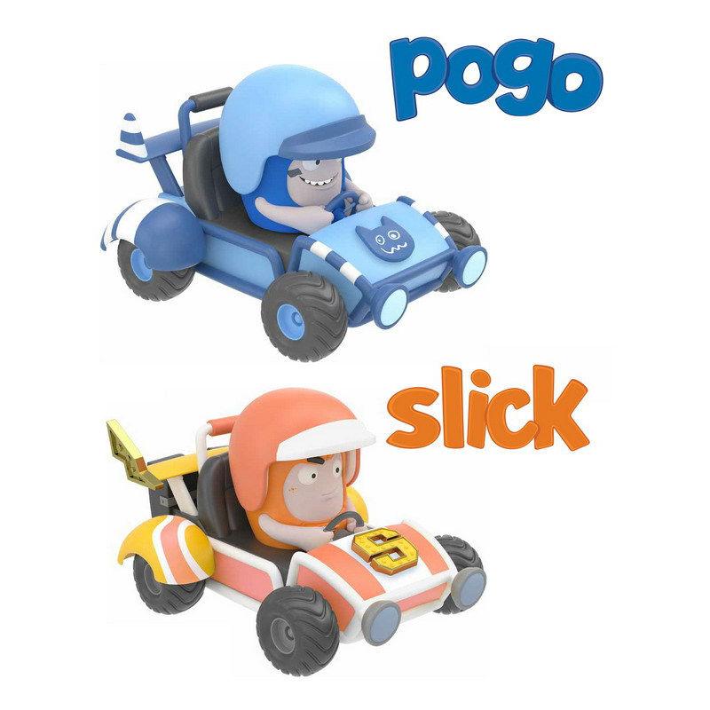 Миникартинги Oddbods - Pogo&amp;SlickМУЛЬТ ГЕРОИ<br>Миникартинги Oddbods - Pogo&amp;Slick<br>