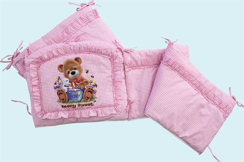 Бампер - Аленка, розовыйБампер в кроватку<br>Бампер - Аленка, розовый<br>