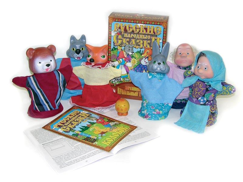 Кукольный театр Колобок 7 персонДетский кукольный театр <br>Кукольный театр Колобок 7 персон<br>