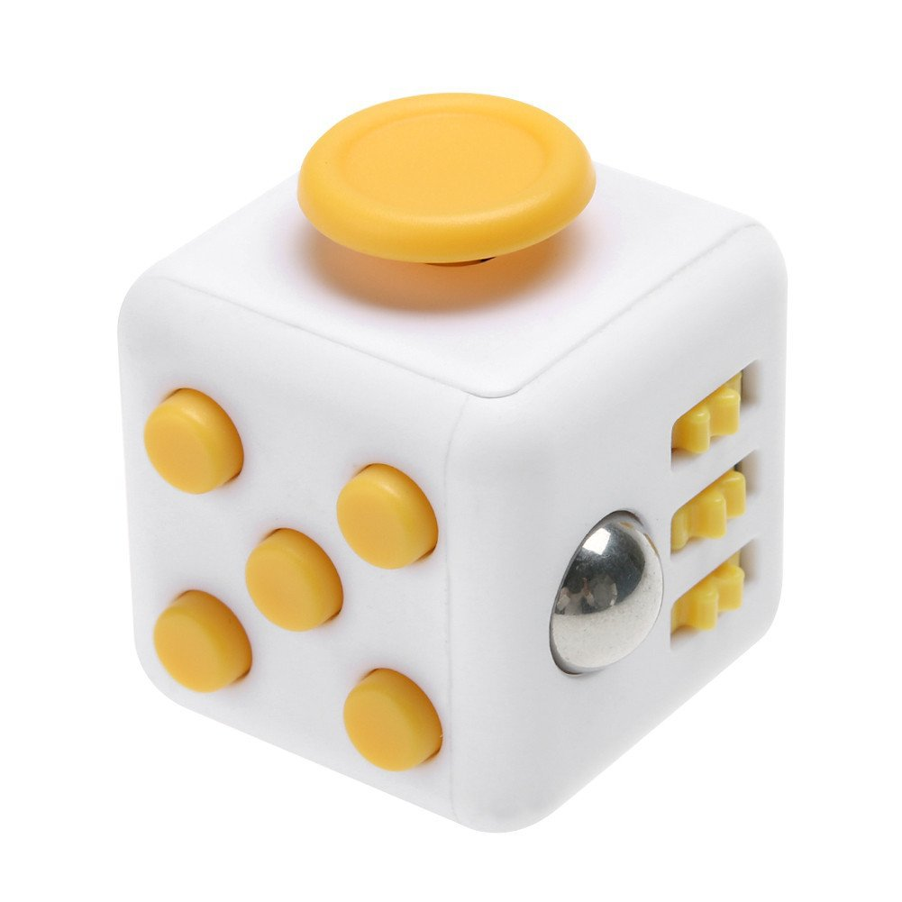 Игрушка антистресс - FidgetCube Light, бело - желтыйАнтистресс кубики Fidget Cube<br>Игрушка антистресс - FidgetCube Light, бело - желтый<br>