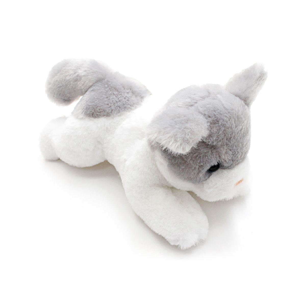 Мягкая игрушка – Котенок бело-серый, 23 см
