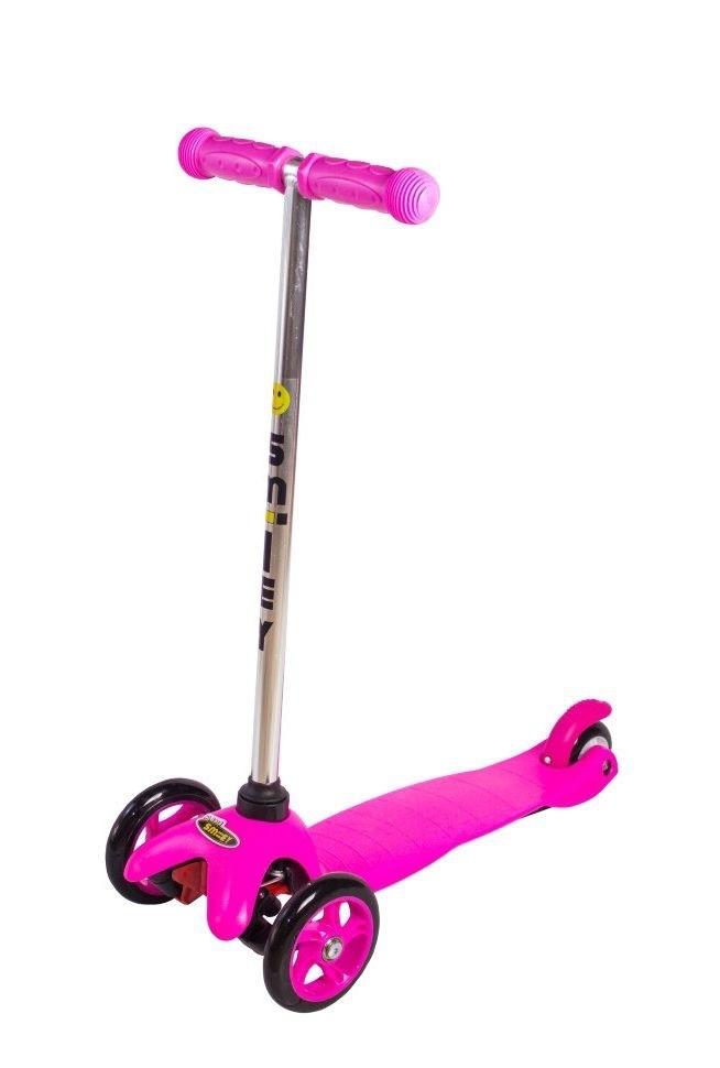 Купить Трехколесный самокат Smiley Mini, розовый