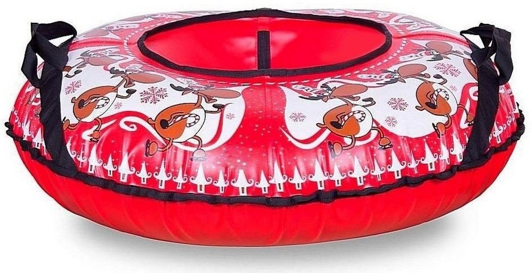 Санки надувные Тюбинг Новогодний Олень + автокамера, диаметр 83 см.Ватрушки и ледянки<br>Санки надувные Тюбинг Новогодний Олень + автокамера, диаметр 83 см.<br>