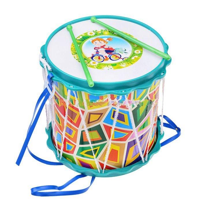 Барабан Походный с аппликациейБарабаны, маракасы<br>Барабан Походный с аппликацией<br>
